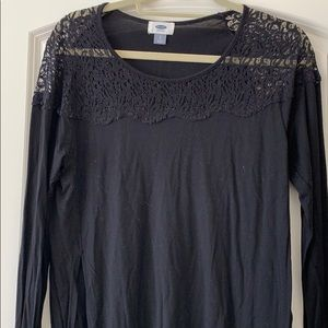 Black and lace shirt